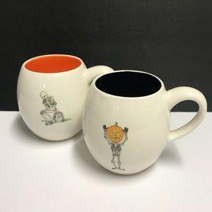 Rae Dunn 2 Brand New Halloween Skeleton mugs